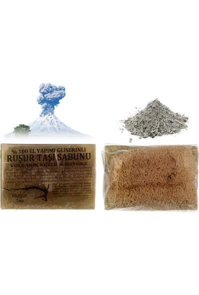 Ruşur Sefidab Ruşur Taşı Sabunu Volkanik Küllü Lifli %100 El Yapımı