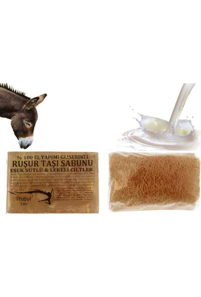 Ruşur Sefidab Ruşur Taşı Sabunu Eşek Sütlü Lifli %100 El Yapımı