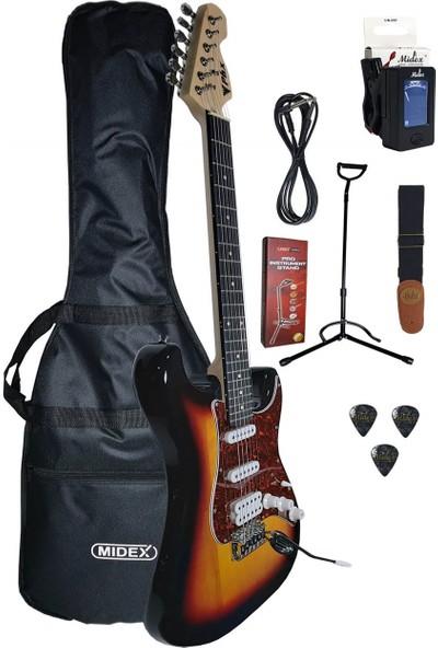 Midex Ph-x Sunset Elektro Gitar (Askı, Stand ve Kablo Hediye)