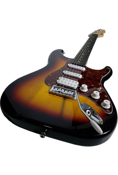 Midex Phx-20 Sunset Elektro Gitar (Tuner Askı, Stand Kablo Kılıf)