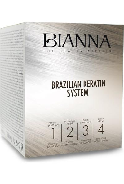 Bianna Brezilian Keratin 4'lü Saç Bakım ve Düzleştirici Set