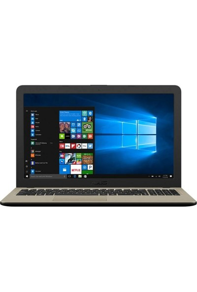 "Asus X540NA-GQ044T Intel Celeron N3350 4GB 128GB SSD Windows 10 Home 15.6"" Taşınabilir Bilgisayar"