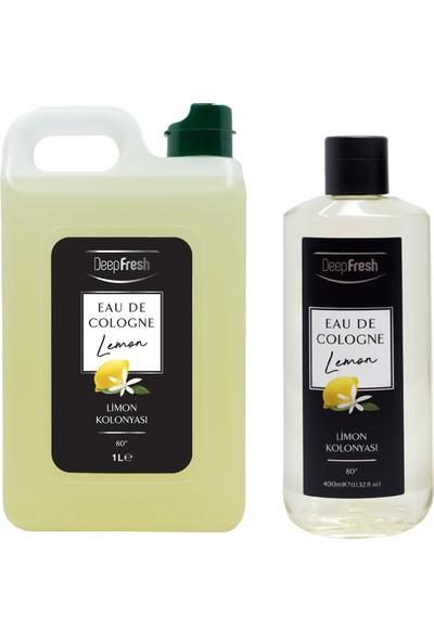 Deep Fresh EDC 80 Derece Limon Kolonya Bidon 1 lt & 400 ml