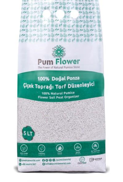 Pum Flower 5Lt. %100 Ponza Taşı, Çiçek Torf Düzenleyici, Çiçek Torfu