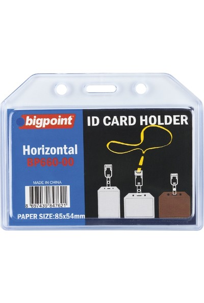 Bigpoint Bp660 Kart Kabı Soft Yatay Seffaf (85X54)
