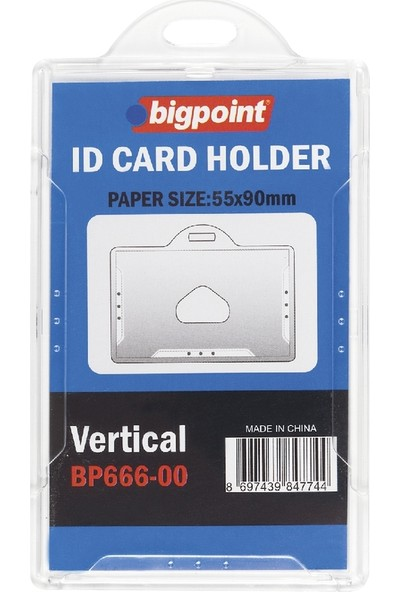 Bigpoint Bp666 Kart Kabı Sert Dıkey Seffaf (55X90)