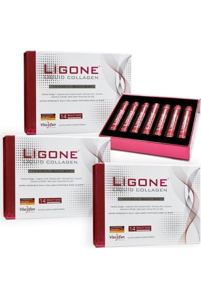 RC FARMA Ligone Liquid Collagen 14 x 30 ml Shot - 3 Adet