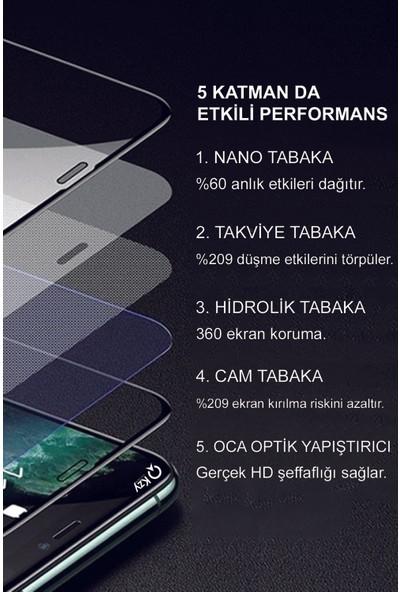 KZY Huawei P40 Lite Tam Kaplayan Seramik Nano Esnek Ekran Koruyucu Şeffaf