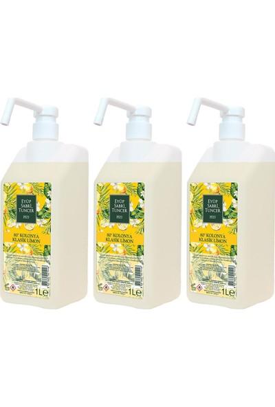 Eyüp Sabri Tuncer Klasik Limon Kolonyası 80 Derece 1 lt Sprey Başlıklı x 3 Adet