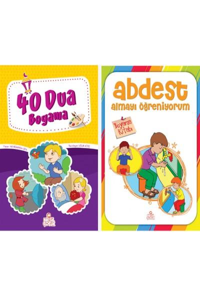Nesil Çocuk Yayınları 40 Dua Boyama Kitabı & Abdest Almayı Öğreniyorum