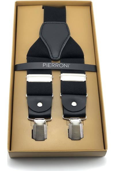 Pierroni Siyah Pantolon Askısı