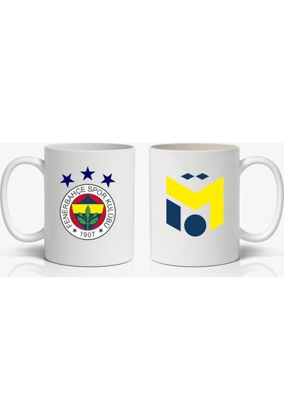 Kupgade Mesut Özil Logolu ve Fenerbahçe Logolu Baskılı Kupa Bardak