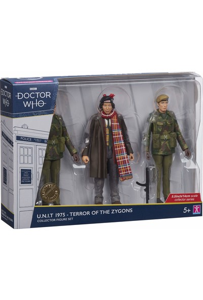 Bbc Doctor Who 1975 U.n.ı.t Terror Of The Zygons Aksiyon Figür Seti