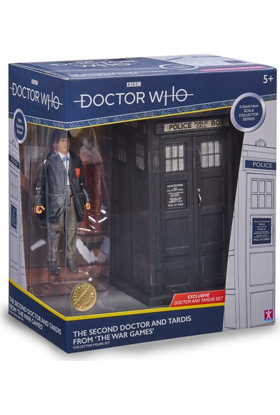 Bbc Doctor Who 2nd Dr & Tardis Set - Klasik Doctor Who Aksiyon Figürü ve Tardis Seti 5.5""