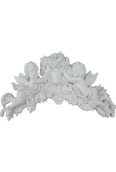 Lumier Melek Bebekler Duvara Asılabilir Motifli Boyanabilir Dekoratif Ham Polyester