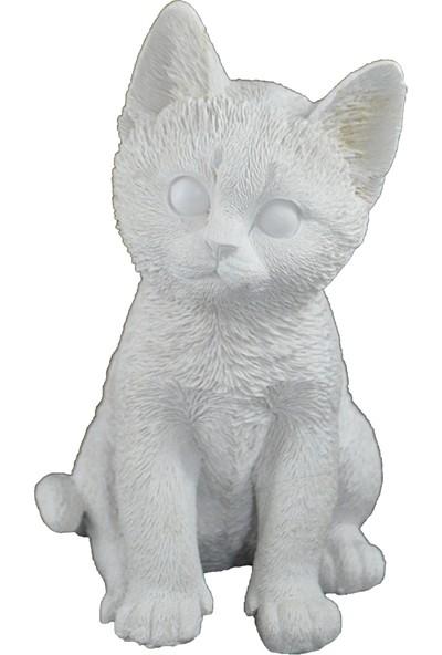 Lumier Kedi Figürlü Boyanabilir Dekoratif Ham Polyester