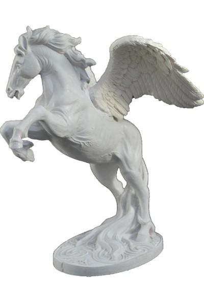 Lumier Pegasus Atı Motifli Boyanabilir Dekoratif Ham Polyester