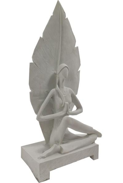 Lumier Meditasyon Figürlü Boyanabilir Dekoratif Ham Polyester