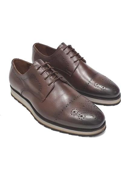 King West Erkek Deri Ayakkabı - Kahverengi - 41
