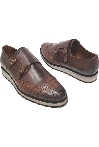 King West Erkek Deri Ayakkabı - Kahverengi - 42