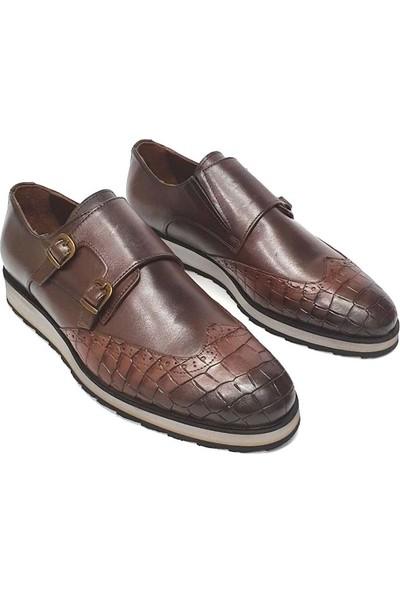 King West Erkek Deri Ayakkabı - Kahverengi - 43
