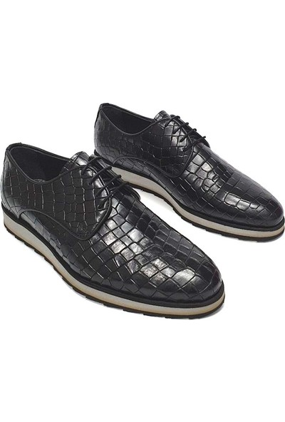 King West Erkek Deri Ayakkabı - Siyah - 43