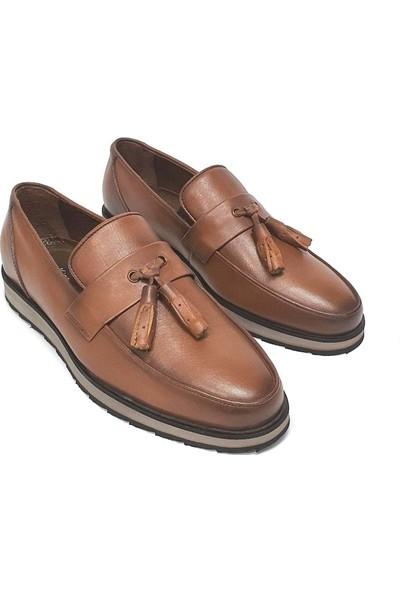 King West Erkek Deri Ayakkabı - Taba - 41