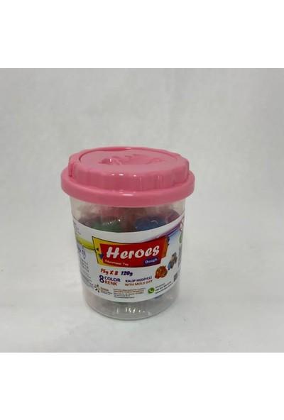 Heroes 8 Renkli Oyun Hamuru 1 Adet