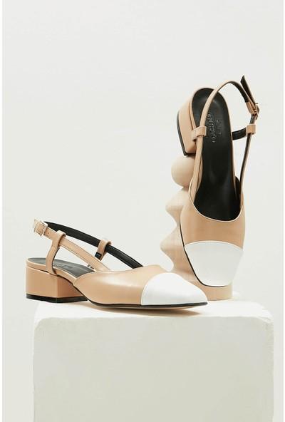 Mio Gusto Hilda Taba Kısa Topuklu Ayakkabı