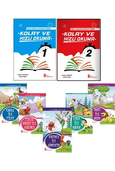Ata Yayıncılık Hızlı ve Kolay Okuma 2 Kitap (1. Sınıf Ses Gruplarına Göre Hazırlanmış) + 5'li Hikaye Seti