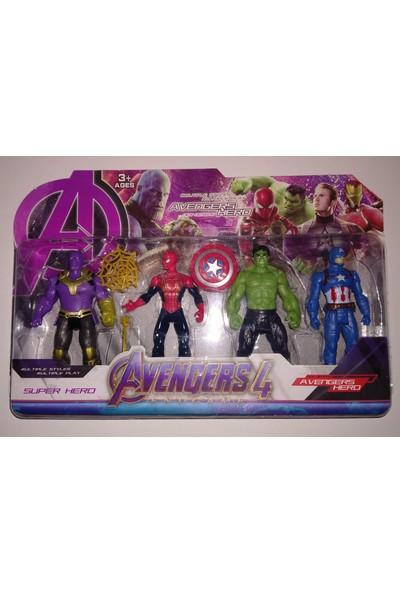 Avengers 4 Lü Karakter Seti Captain America Thanos Hulk Spiderman