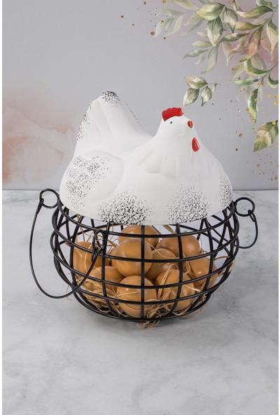 Dekoratif Yumurtalık Tavuk / Yumurta Sepeti / Tavuk Figürlü Yumurtalık