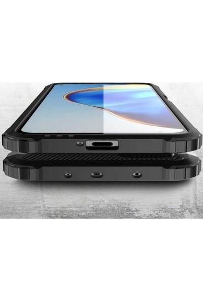 Caseart Huawei P Smart S Kapak Çift Katmanlı Zırh Tank Kılıf - Siyah