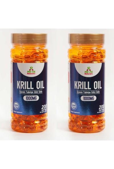 Mefa Naturals Kırmızı Krill Oil 1000 Mg 200 Softgel 2'li