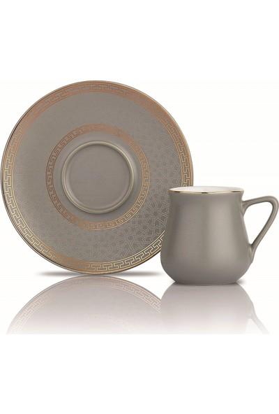 Schafer Getra Kahve Fincan Takımı - 6'lı 12 Parça - Altın