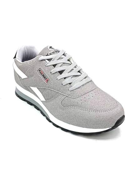 Keeway Unisex Gri Beyaz Sneaker Spor Ayakkabı