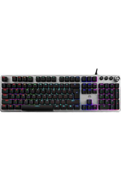 MF Product Strike 0561 Blue Switch Kablolu LED Işıklı Yarı Mekanik Gaming Klavye Siyah