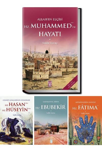 Salih Suruç 4 Kitap Set (Allah'ın Elçisi Hz. Muhammed'in Hayatı, Hz. Hasan Hz. Hüseyin, Hz. Ebubekir, Hz. Fatıma)