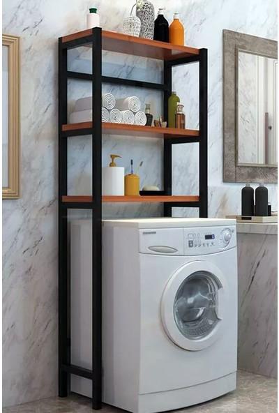 Lacivert Mimarlık Mdf 60*160*40 Balın Çamaşır Makinesi Üstü Düzenleyici Raf Meşe