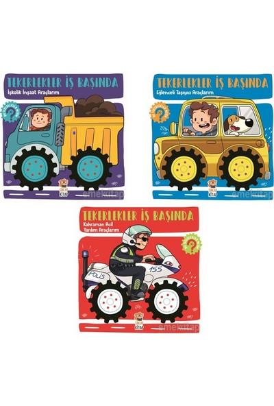 Tekerlekler Iş Başında Serisi Hareketli Tekerlekli Kitaplar 3 Lü Set (Işkolik Inşaat Araçlarım, Eğlenceli Taşıyıcı Araçlarım, Kahraman Acil Yardım Araçlarım)