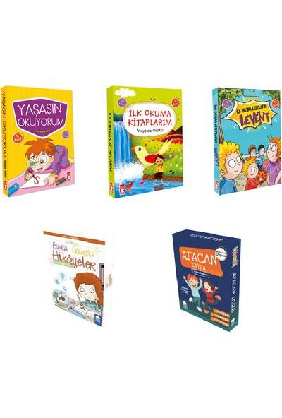 Timaş Çocuk - Mavi Kirpi Yayınları Ilk Okuma 1. Sınıf Kitapları 5 Set 50 Kitap Set (Yaşasın Okuyorum, Ilk Okuma Kitaplarım, Levent Ilk Okuma Kitaplarım, Günlük Güneşlik Hikayeler, Afacan Tayfa)