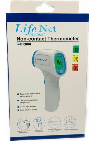 Life Net medikal Temassız Ateş Ölçer Kızıl Ötesi Vücut Alından Termometre FR880