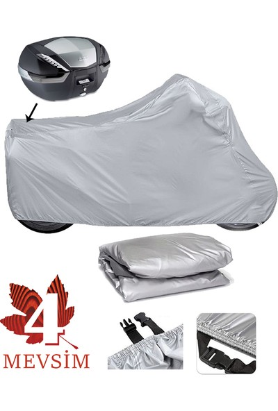 Autoen Arora Ar 100-8 Klasik Çelik Motosiklet Brandası Arka Çanta Uyumlu