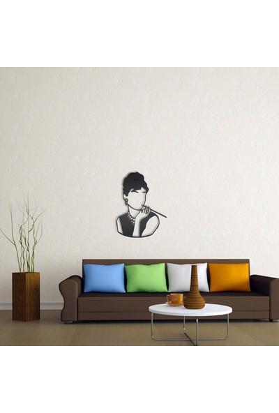 Dfa Dekoratif Woman Metal Tablo -58X44 cm