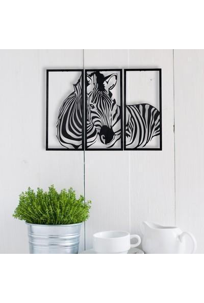 Dfa Dekoratif Zebra Metal Tablo -58X40 cm