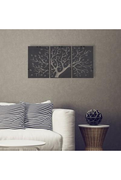 Dfa Dekoratif Agaç Metal Tablo -58X28 cm