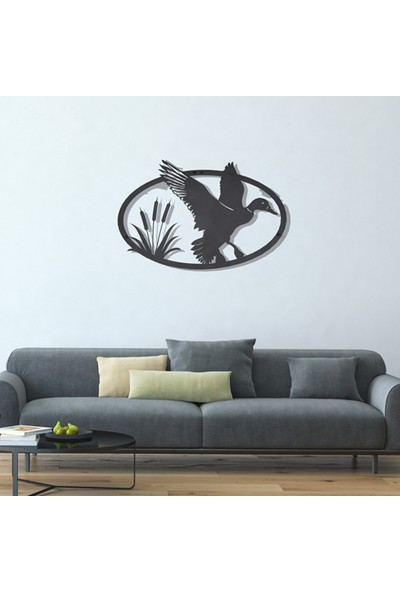 Dfa Dekoratif Ördek Metal Tablo -58X38 cm