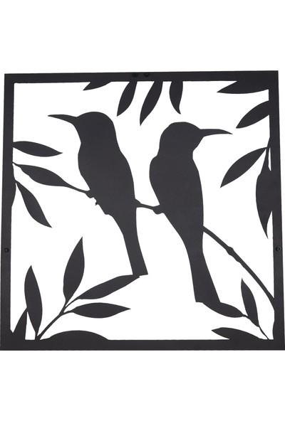 Dfa Dekoratif Bird Metal Tablo -58X58 cm