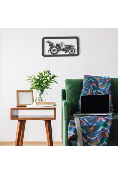 Dfa Dekoratif Fayton Metal Tablo -58X31 cm