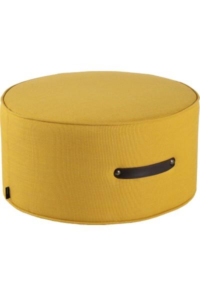 Hamm Tasarım Davul Puf - Sarı 60CM